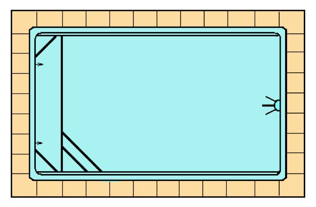 Coronació piscina de polièster Graf Pals