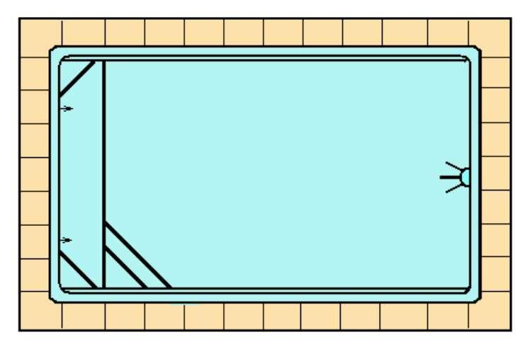 Coronación piscina de poliéster Graf Tamariu