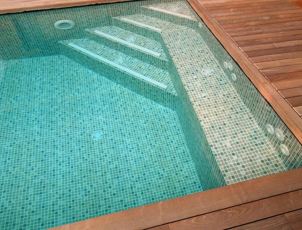 Piscina d'acer, piscina al terrat, Espai Piscines Graf