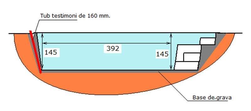 Excavació piscina de polièster Graf Xelida