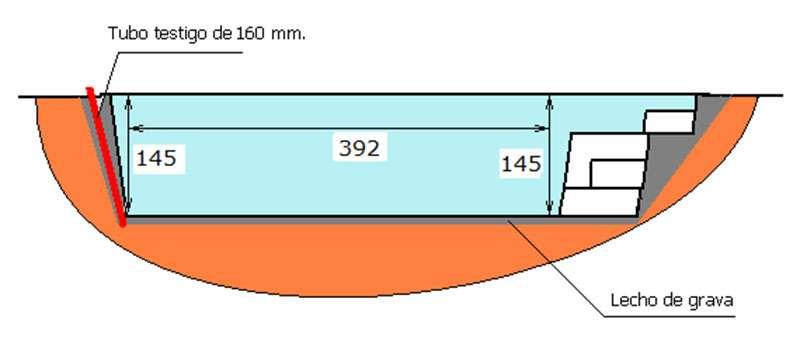 Excavación piscina de poliéster Graf Xelida