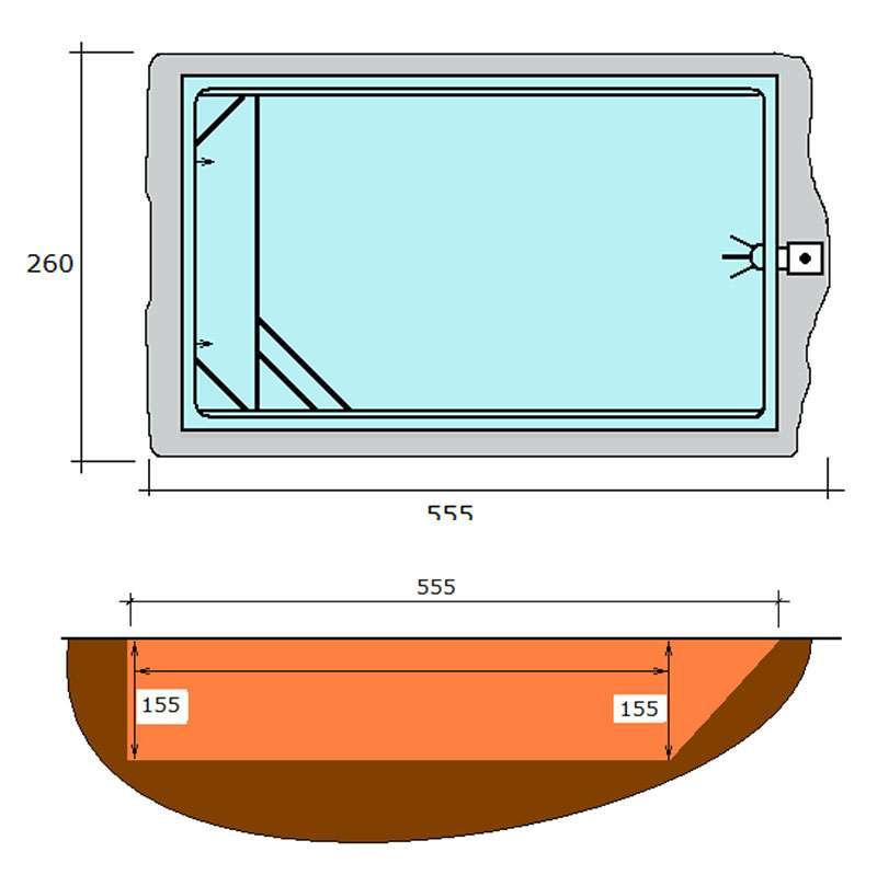 Excavación piscina rectangular de polièster Graf Xelida procés d'instal·lació