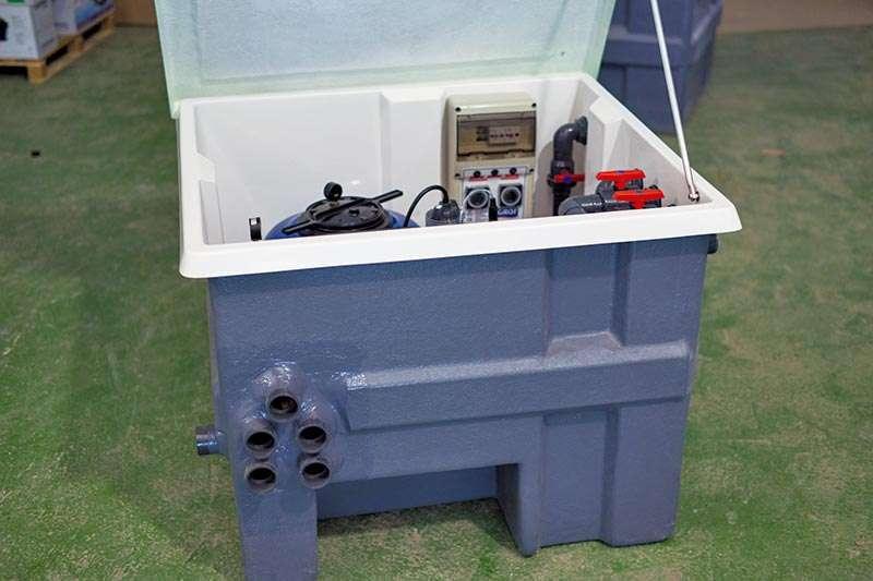 Sistemes de filtració: Filtració local tècnic, Espai Piscines Graf