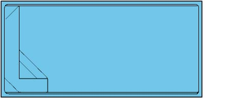 Piscina rectangular de polièster Calella
