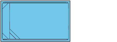 Piscina rectangular de polièster Montjoi